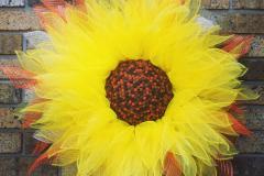 """Orange + Yellow 36"""" Deco Mesh Sunflower"""