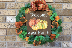 """Welcome To Our Patch 18"""" Grapevine Wreath"""