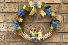 "Bunny Couple 12"" Willow Wreath"
