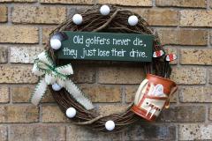 "17"" Golfer's Grapevine Wreath"