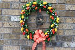 "17"" Metal Birdcage Grapevine Wreath"