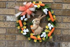 "17"" Wood Rabbit Grapevine Wreath"