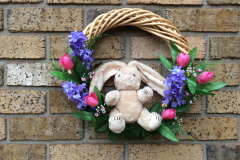 "Stuffed Bunny 12"" Willow Wreath"